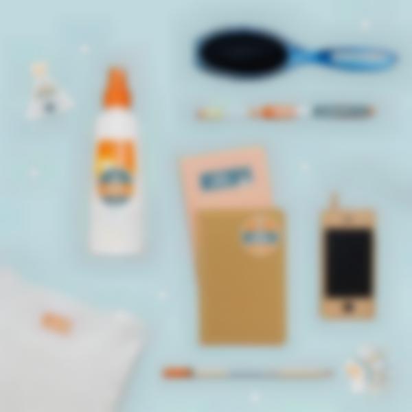 pack campamento etiquetas objetos