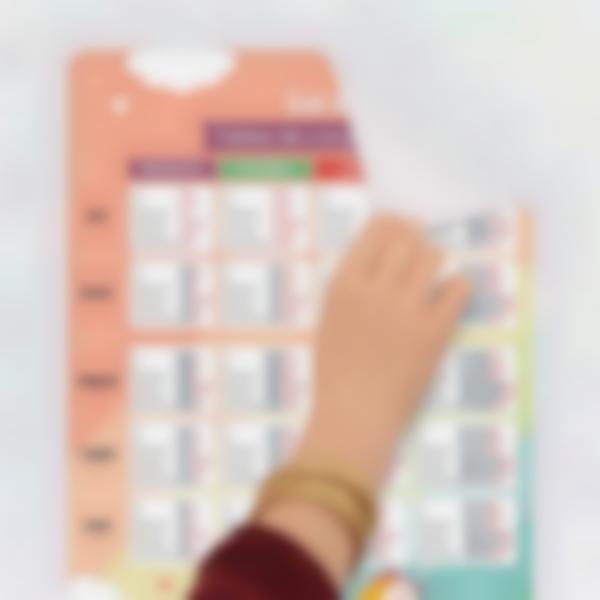 poster educativo personalizado tablas de conjugacion 0