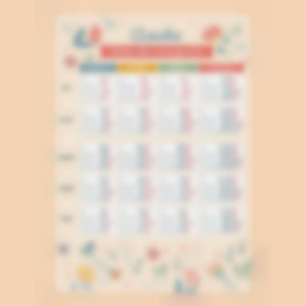 poster educativo personalizado tablas de conjugacion floral 1 1