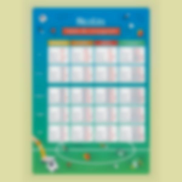 poster educativo personalizado tablas de conjugacion futbol 2 1