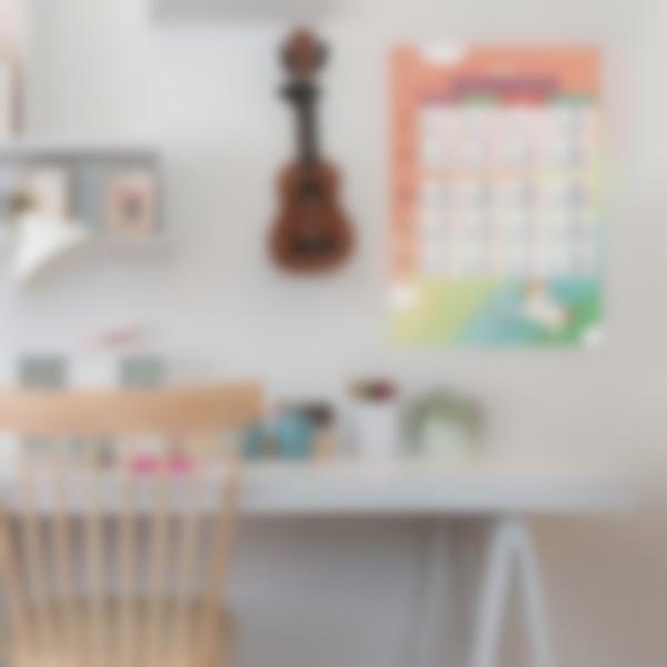 poster educativo personalizado tablas de conjugacion unicornio 2