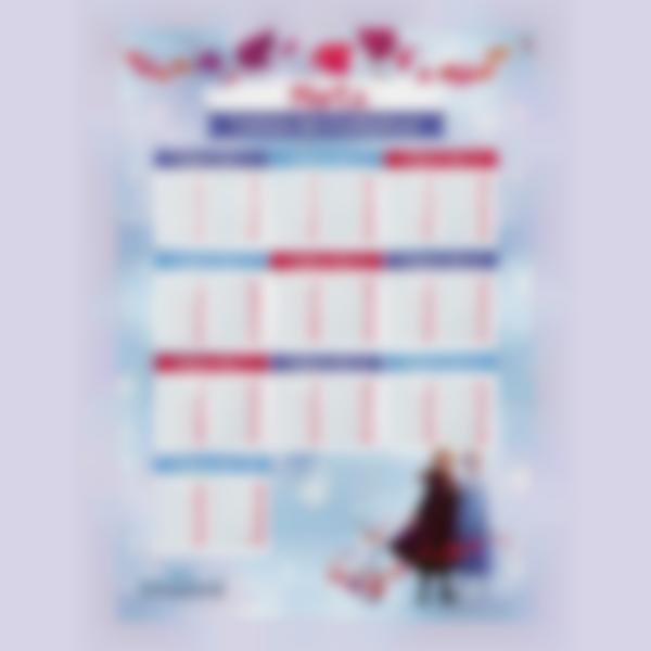 poster educativo tablas de multiplicar frozen 2
