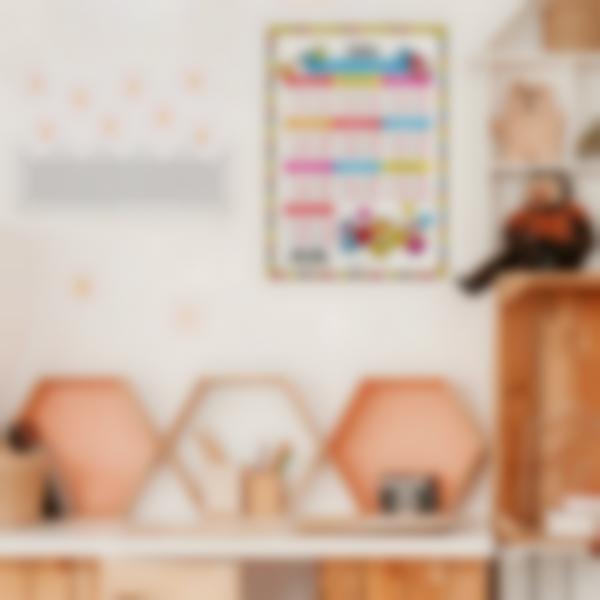 poster educativo tablas de multiplicar mr men habitacion 1