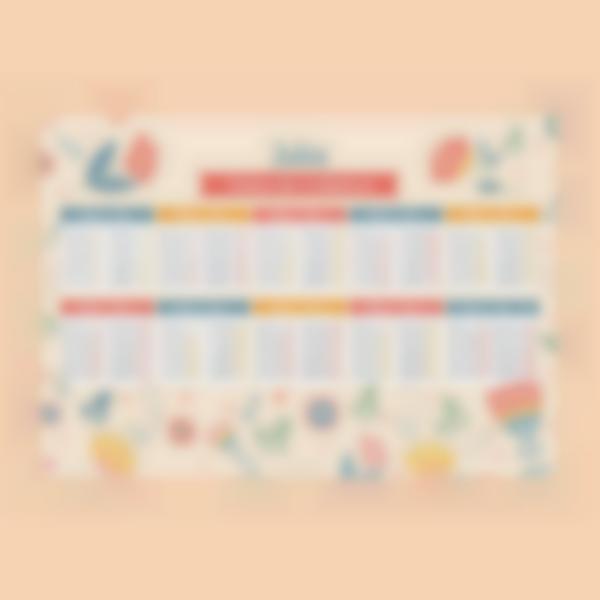 poster educativo tablas de multiplicar personalizadas fiori 1 1