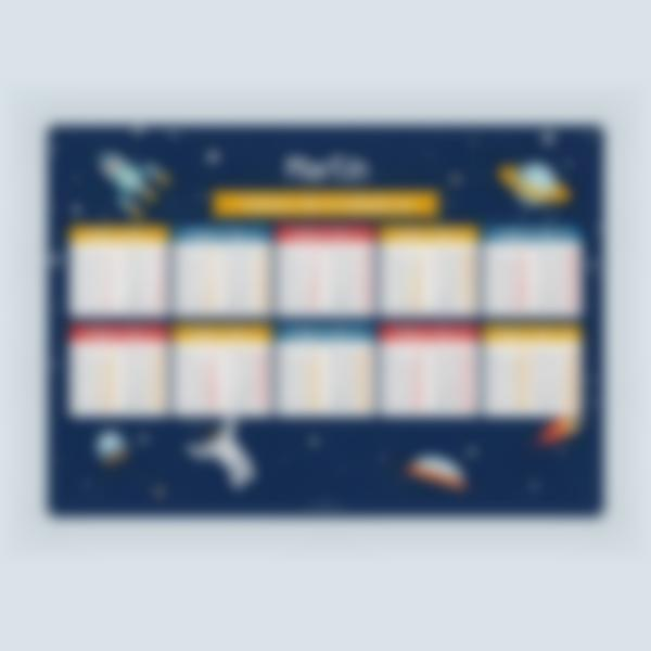 poster educativo tablas de multiplicar personalizadas spacio 1 1