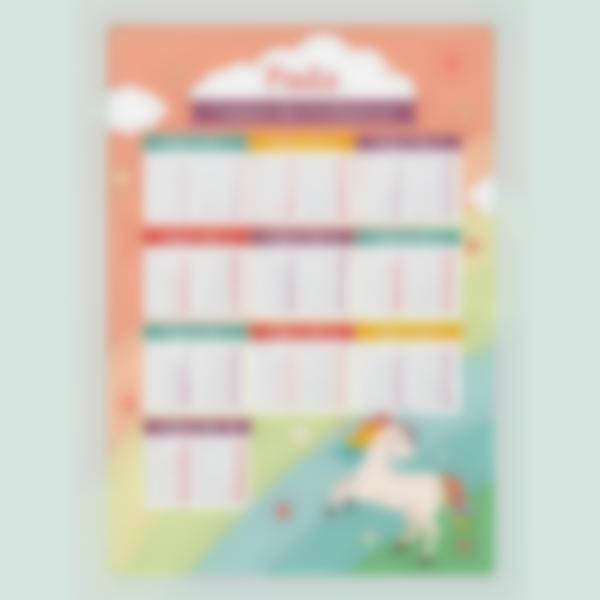 poster educativo tablas de multiplicar personalizadas unicorno 1 1