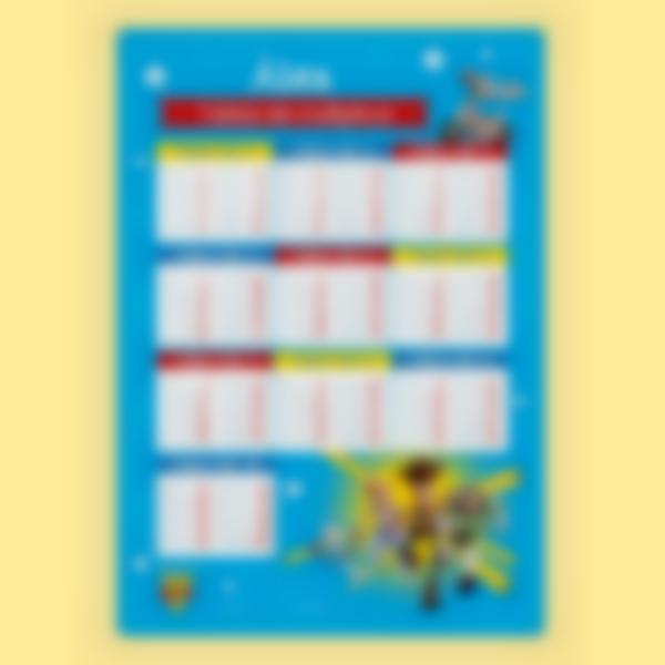 poster educativo tablas de multiplicar toy story 4