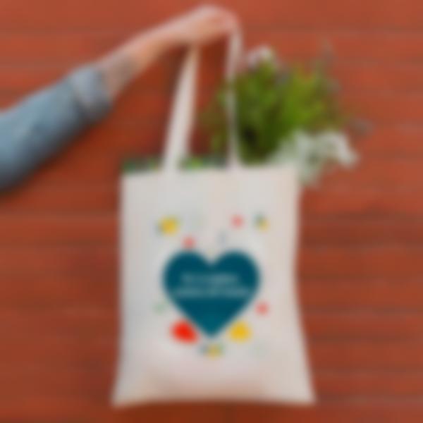 shopper bag cuore 1