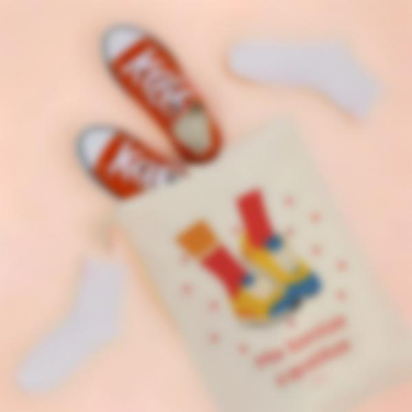 Pequeña bolsa de almacenamiento ilustrada y personalizada