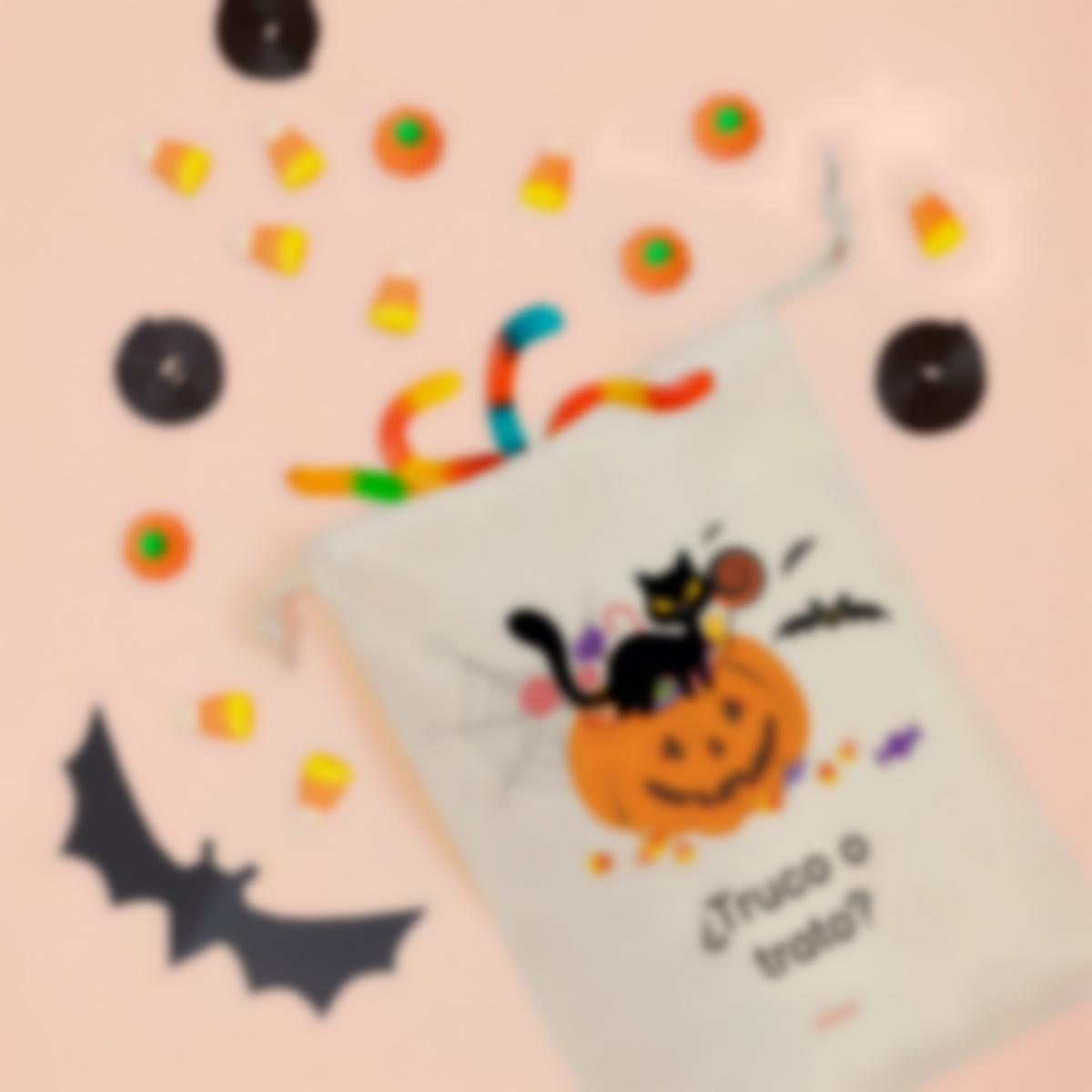 Bolsa personalizada para chuches de halloween