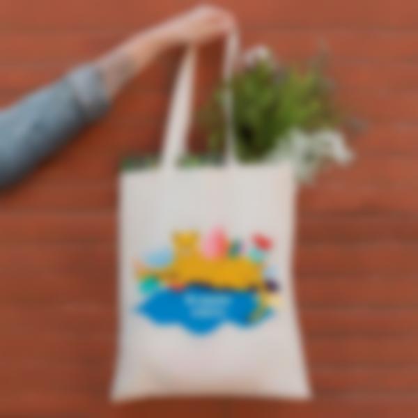 Bolsa de tela personalizada para dar las gracias