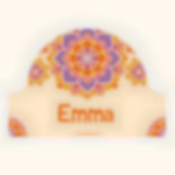 Placa Infantil adhesiva para puertas - Mandala