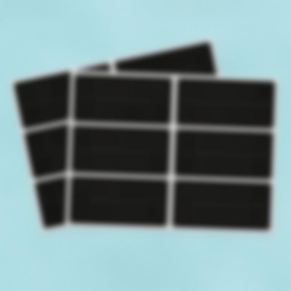12 etiquetas grandes borrables de pizarra - rectangulares
