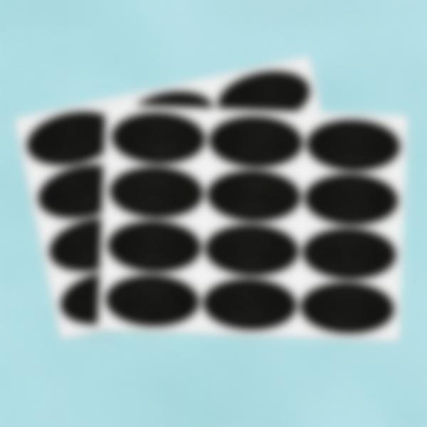 24 etiquetas pequeñas borrables de pizarra - óvalos