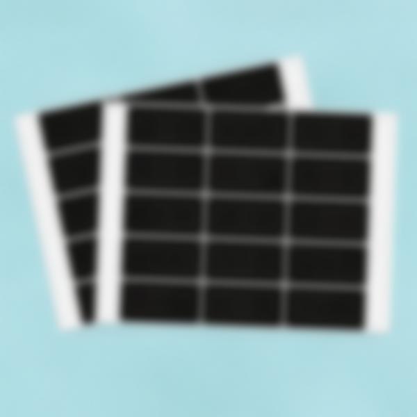 30 etiquetas pequeñas borrables de pizarra - rectangulares