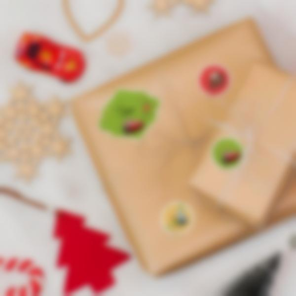 Etiquetas para personalizar los regalos de Navidad - Cars