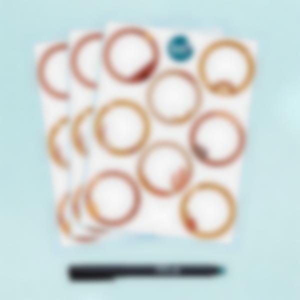 Etiquetas blancas redondas borrables x 24 - Terracotta