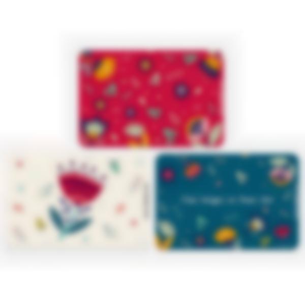 Lote adicional de 3 tarjetas magnéticas para la fiambrera Ludibox - Floral