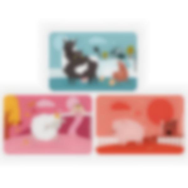 Lote adicional de 3 tarjetas magnéticas para la fiambrera Ludibox - Animales De La Granja
