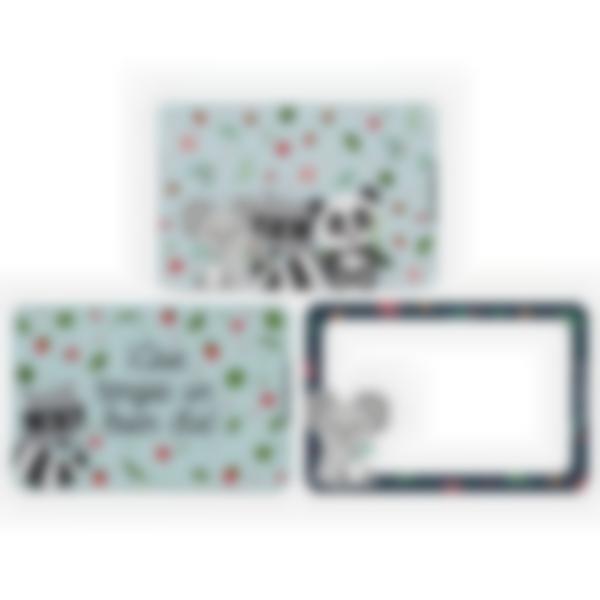 Lote adicional de 3 tarjetas magnéticas para la fiambrera Ludibox–Animalitos