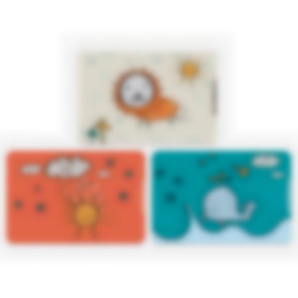 Lote adicional de 3 tarjetas magnéticas para la fiambrera Ludibox - Dibujos Infantiles