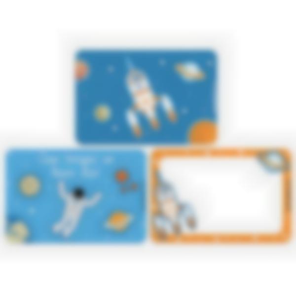 Lote adicional de 3 tarjetas magnéticas para la fiambrera Ludibox–Espacio