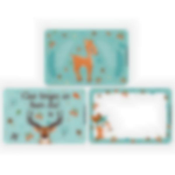 Lote adicional de 3 tarjetas magnéticas para la fiambrera Ludibox–Foresta
