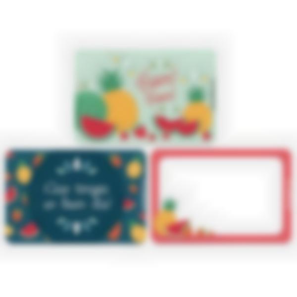 Lote adicional de 3 tarjetas magnéticas para la fiambrera Ludibox–Fruta