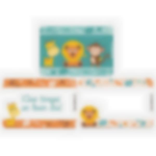 Lote adicional de 3 tarjetas magnéticas para la fiambrera Ludibox–Sabana