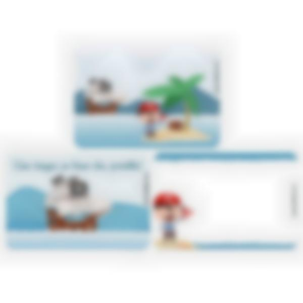 Lote adicional de 3 tarjetas magnéticas para la fiambrera Ludibox–Pirata