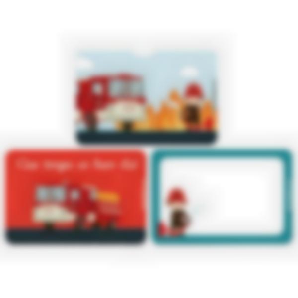 Lote adicional de 3 tarjetas magnéticas para la fiambrera Ludibox–Bomberos