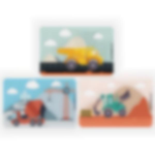 Lote adicional de 3 tarjetas magnéticas para la fiambrera Ludibox - Construcción
