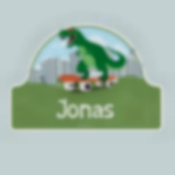 Placa Infantil adhesiva para puertas - Dinosaurio T-Rex