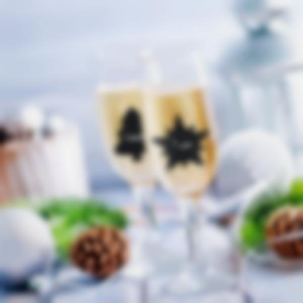 Etiquetas adhesivas de pizarra - Navidad