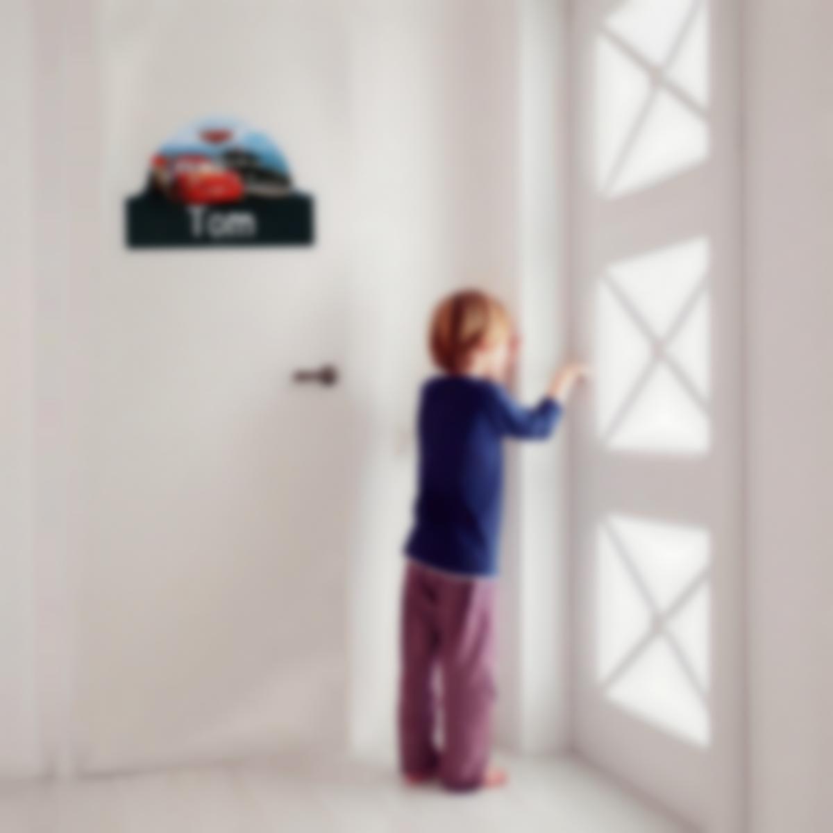 Placa Infantil adhesiva para puertas - Disney Cars 3