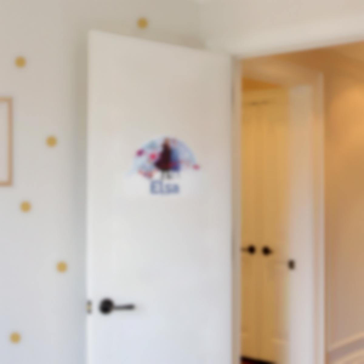 Placa Infantil adhesiva para puertas - Disney Frozen 2