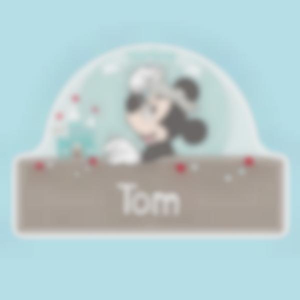 Placa Infantil adhesiva para puertas - Mickey