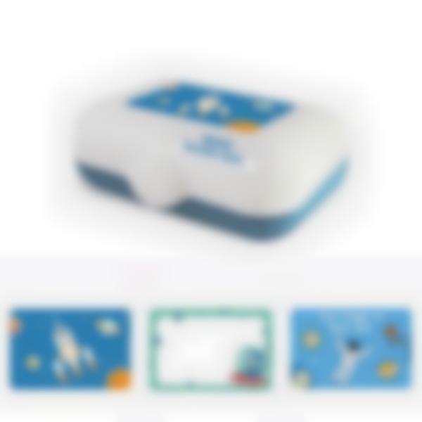 Ludibox -  Fiambrera personalizada azul – Espacio