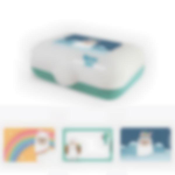 Ludibox - Fiambrera personalizada verde - Alpaca