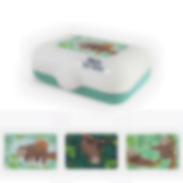 Ludibox - Fiambrera personalizada verde - Perezoso