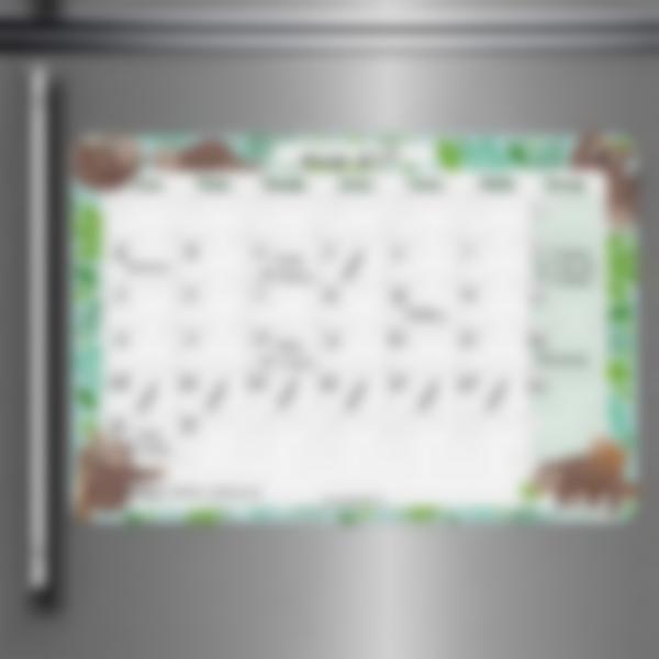 Tablero Calendario Mensual borrable