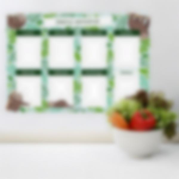 Tablero Calendario Semanal magnetico