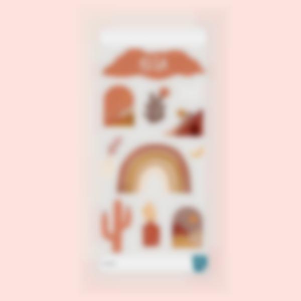Pegatinas decorativas para cantimploras - Terracotta
