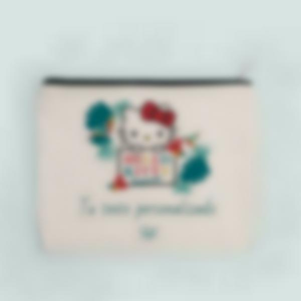 Estuche de tela personalizado - Hello Kitty - Tropical