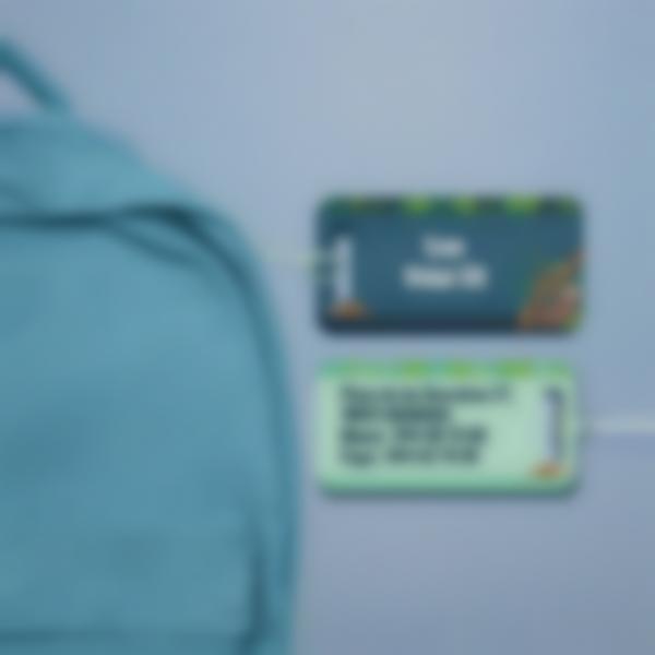 Etiqueta para maletas