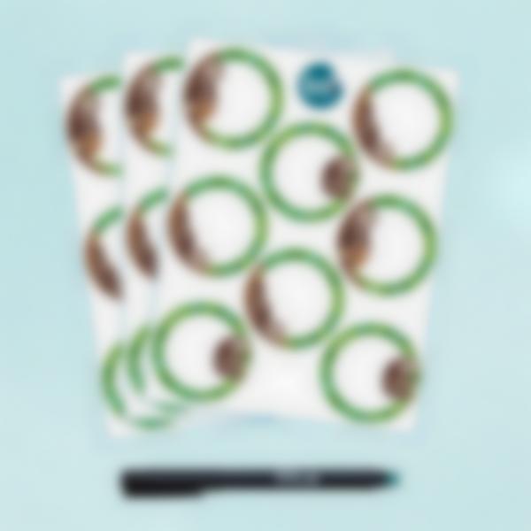 Etiquetas blancas redondas borrables x 24 - Perezoso