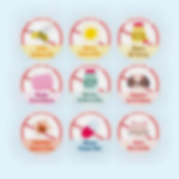 """Etiquetas adhesivas redondas para objetos """"Alergias, Condiciones Médicas y Dietas"""""""