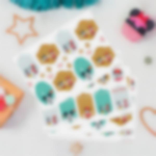 Etiquetas regalos de Navidad - Mickey y Minnie