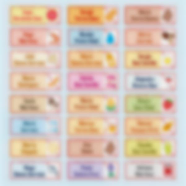 """Etiquetas adhesivas rectángulares """"Alergias, Condiciones Médicas y Dietas"""""""