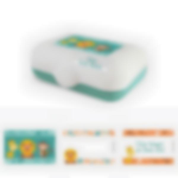 Ludibox - Fiambrera personalizada verde – Jungla